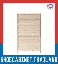 6 ชั้น สีลายไม้สว่าง ตู้รองเท้าอลูมิเนียม กันน้ำกันปลวก ตู้รองเท้า ชั้นวางรองเท้า กล่องใส่รองเท้า ตู้อเนกประสงค์ ALUMINIUM SHOE CABINET