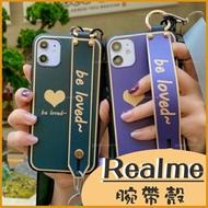 Realme X7 Pro Realme 7 C3 6i Realme 6 X50 Pro X3愛心 墨綠色 防摔殼 保護套 軟邊手機殼 掛脖 防丟繩