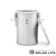 鎧斯Keith Ti6300純鈦多功能煮飯器附收納袋.鈦金屬便攜易清洗雙層蒸煮湯鍋子煮飯鍋