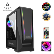 AZZA Mid Tower Tempered Glass RGB Gaming Case Chroma 410A - Black