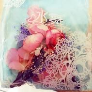 好美~新娘森林系粉色花朵結婚頭飾