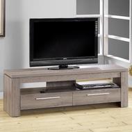 【歐登】5尺雙抽電視櫃-3D木紋-深木色(視聽櫃/客廳櫃)