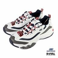 《滿1500現折150》Skechers D'lits 白色 皮質 老爹 休閒運動鞋 男款 NO.B0834【新竹皇家 52684WNVR】
