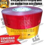 _ TJM Reflector STICKER STICKER KIR Reflective Light Reflective - Red ⁂