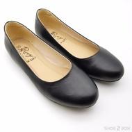 Rovy รองเท้าคัชชูผู้หญิง ส้นแบน รองเท้าทางการ W1107 สีดำ