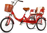 """20"""" Adult Tricycle Foldable 3 Wheel Bicycles Cruise Trike Single Speed Shopping Tricycle, Load Bike With Basket, Seniors Shopping Bike Trike"""
