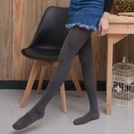 褲襪 80D天鵝絨收腹提臀微壓啞光條紋絲襪 (深灰色)