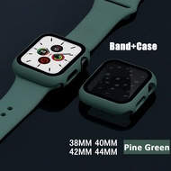Glass+Case+strap for Apple Watch Band 44 mm 40mm iWatch band 42mm 38mm silicone bumper+bracelet apple watch 5 4 3 2 1 38 42 44mm