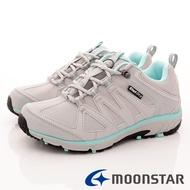 日本月星Moonstar機能女鞋 4E抗菌耐磨防潑款-DL017灰(女段)
