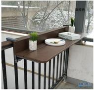 折疊吧檯桌 折疊式吧臺吊架懸掛靠墻靠窗桌椅陽臺奶茶店窗戶收納可折疊簡易