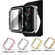 CONGYIFEI6 Gift All Around Protection Bling 38mm 40mm 42mm 44mm Diamond For Apple Watch SE Protective Case Compatible with Iwatch