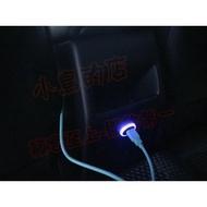 (小鳥的店)豐田 2018-20 AURIS  中央扶手 後座 雙孔 USB 圓型 原廠部品 藍光 CAMRY WISH
