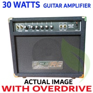 Electric Guitar Amplifier , Aspire 30Watts GA-30 with Overdrive . (Alternative brand to: global nux frontline cort blackstar wire mighty davis laney mini iron fernando tony smith boston orange crush fernando acoustic rj bose boss marshall peavey rage )