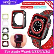 กรณี Sport Silicone Frame Rubber Protector Soft Case For apple watch Series 6/SE/5/4/3/2/1 38MM 40MM 42MM 44MM Silicone Cover For Apple Watch 6 5 4 3 2 1 SE Case i watch 6/SE เคสซิลิโคนป้องกันกีฬา