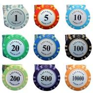 【玩具倉庫】籌碼←玩麻將 遊戲代幣 塑膠籌碼牌子 塑膠幣 麻將籌碼 比特幣 bitcoin 道具 籌碼 大富翁 桌遊