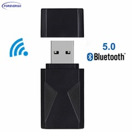 RE 2 in 1 USB Wireless Audio Bluetooth5.0 Transmitter Receiver TV PC Car 3.5mm Aux Audio Adapter