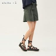 a la sha+a  裝飾綁帶條紋短褲裙