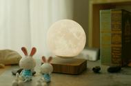 創意磁力懸浮燈 家居擺件 新款LED小夜燈 3D月亮燈底座 USB充電床頭燈