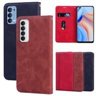 Telefono Leather Case For OPPO Reno 4 Pro Protective Cover Flip Case Oppo Reno4 Pro 5G Wallet Case Protector Funda Shell Etui