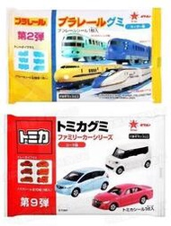 【日本百貨】TOMICA 多美汽車軟糖-可樂味 新幹線軟糖-蘇打味(附貼紙) ORION 好麗友 造型軟糖 慶生同樂