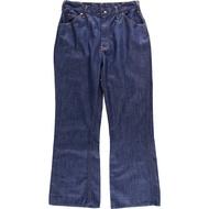 70年代蒙哥馬利Word Montgomery Ward POWER DENIMS喇叭形cut牛仔褲牛仔褲女士XL(w30)復古/wbk6073 VINTAGE CLOTHING JAM