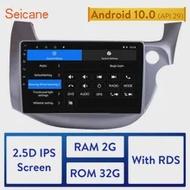 ซีเทอร์2din Android 10.0รถวิทยุสำหรับ2007-2016 HONDA FIT JAZZ RHD 10.1นิ้วHDหน้าจอมัลติมีเดียGPSนำทาง