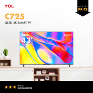 """TCL C725 43 inch 4K QLED Smart TV 43"""" 2021 