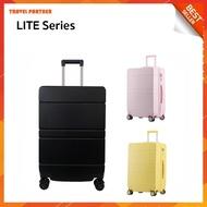 ใหม่ล่าสุด กระเป๋าเดินทาง กระเป๋าเดินทางล้อลาก  LITE SERIES เฟรมซิป หลากสี ขนาด 20 นิ้ว และ 24 นิ้ว