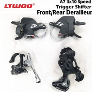 [COD] LTWOO A7 3x10 Speed Front/Rear Derailleur+Trigger Shifter lever groupset for MTB mountain bike Compatible with Shimano alivio m4000 DEORE m590 LTWOO Groupset t 10Speed NICE