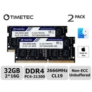 【美國代購】Timetec Hynix IC 32GB KIT(2x16GB)相容Apple 2019 iMac 27吋Retina 5K顯示屏 Mac Mini