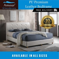 Amour Brand Classic PU leather bed Frame Single size,Super Single Size,Queen Size,King Size Available