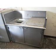 【吉林二手貨G1600001】 厚白鐵#304 白鐵垃圾桶 自助餐 廚餘回收箱 資源回收箱 垃圾箱 分類箱 垃圾桶