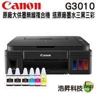 【浩昇科技】Canon PIXMA G3010 原廠無線大供墨複合機 搭GI-790原廠墨水三黑三彩