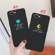 เกาหลีการ์ตูนดวงจันทร์M Atte Soft Case IPhone 11 11Pro 11ProMax 6 6 วินาที 7 8 6 พลัส 6SP Lus 7 พลัส 8 พลัสX XS XR OPPO A37 A57 A5S F5 F7 F9 A71 F11 A9 A5 2020 5 5Pro VIVO Y17 Samsung Xiaomi Redmi