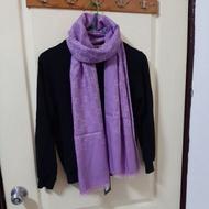 全新正品Gucci粉紫色圍巾