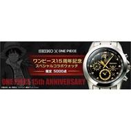 日版 航海王 海賊王 SEIKO 聯名錶款 15週年紀念 全球限量5000支 第一彈 魯夫 非喬巴 pop 戰國 馬可