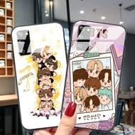 Samsung Case Samsung Galaxy A72 A71 A70 A52 A51 Galaxy case BTS Group photo cute photoCasing Phone Case GLASS CASE protective Cover
