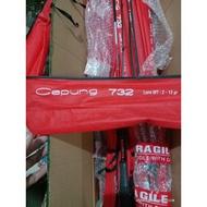 Joran RELIX CAPUNG 732 LINE Test 4-8 LBS Red SPIDERMAN CAPUNG