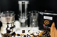 Cold Brew ชุดทำกาแฟสกัดเย็น กระดาษกรอง ช้อนตวงกาแฟ เครื่องบดกาแฟไฟฟ้า เมล็ดกาแฟคั่วเข้ม 500g.