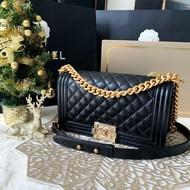 """Usedbrand88 - New Chanel Boy 10"""" Caviar Holo29 GHW"""