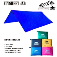 Flysheet 4x6 Fly Sheet 4x6 Bivak / Trap Tent / Tent Cover / 6x4meter