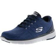 SKECHERS FLEX ADVANTAGE 3.0 男鞋 健走 訓練 寬楦 針織網布 輕量 避震 深藍【運動世界】52957WNVY