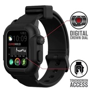 Waterproof silicone strap with case For Apple Watch band 6 SE 5 4 apple watch bands 42mm Silicone Strap 44mm 40mm pulseira Bracelet smart watch Accessories loop