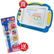 【買就送】波力歡樂塗鴉板送TOMICA專業變裝手錶-168幼福童書網