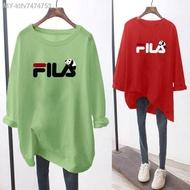 FILA t shirt Lengan Panjang muslimah Baju perempuan murah Saiz Besar Jenis Women's Plus Size Long Sleeve Blouse Clothes