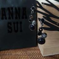 ANNA SUI 異材質大圓小圓垂墬耳環