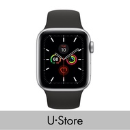 [U Store] Apple Watch Series 5 GPS Aluminium Case with Sport Band Silver Aluminium Case with White Sport Band 40MM