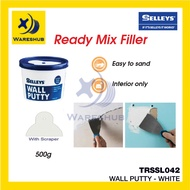 [Shop Malaysia] Selleys Wall Putty White Ready Mix Filler Instant Putty Filler For Wall Crack Wall Dinding Retak Putih