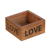Rustic Natural Wooden Succulent Plant Flower Bed Pot Box Garden Planter Home Storage Box Wooden Jewe