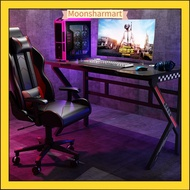 Moonsharmart Gaming table, computer table, desktop table, student home bedroom desk set, gaming table and chair, small